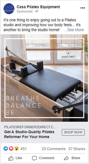 Casa Pilates Ad Example