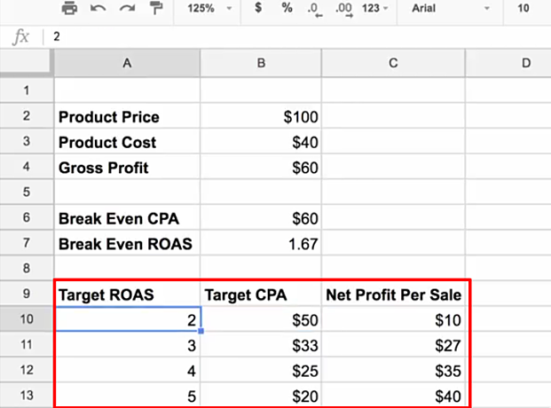 Facebook Ad Course   Learn How to Determine Your Target Cost Per Acquisition (4)