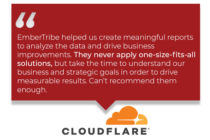 Testimonial_B2: EmberTribe helped us create meaningful reports to drive business improvements.