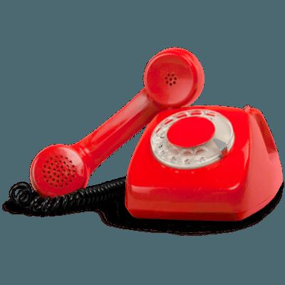 Big red phone transparent
