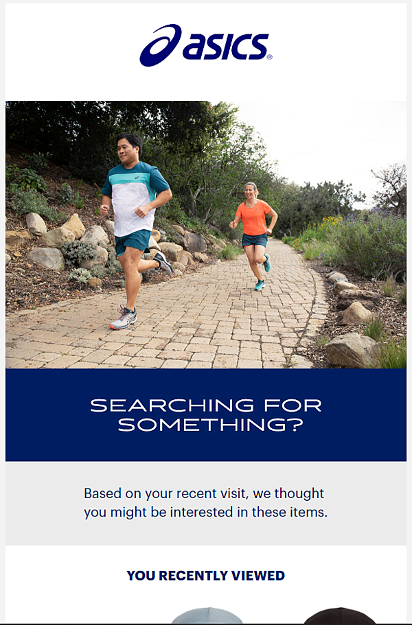 Asics personalized email