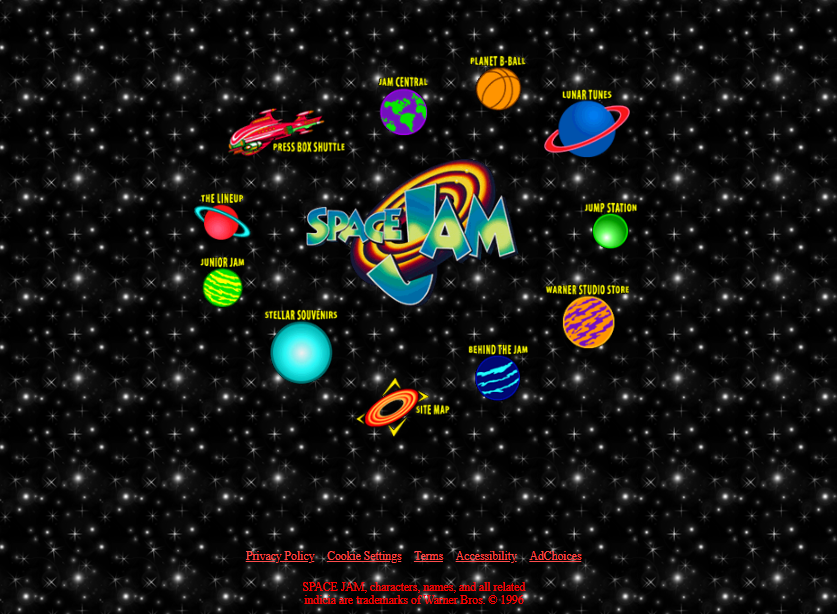 Space Jam home page
