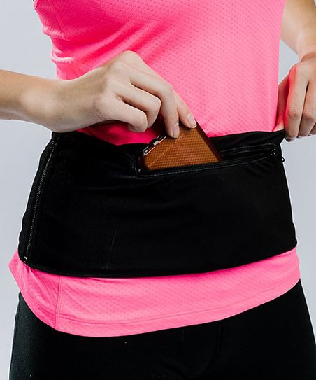 Fusion belt on woman with pink shirt