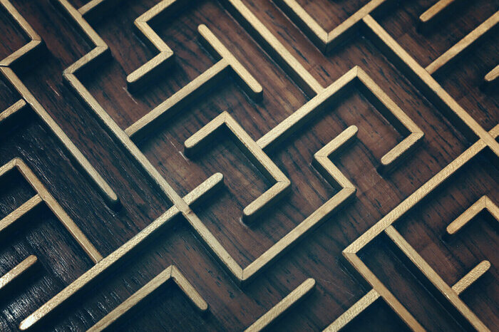 Up close maze