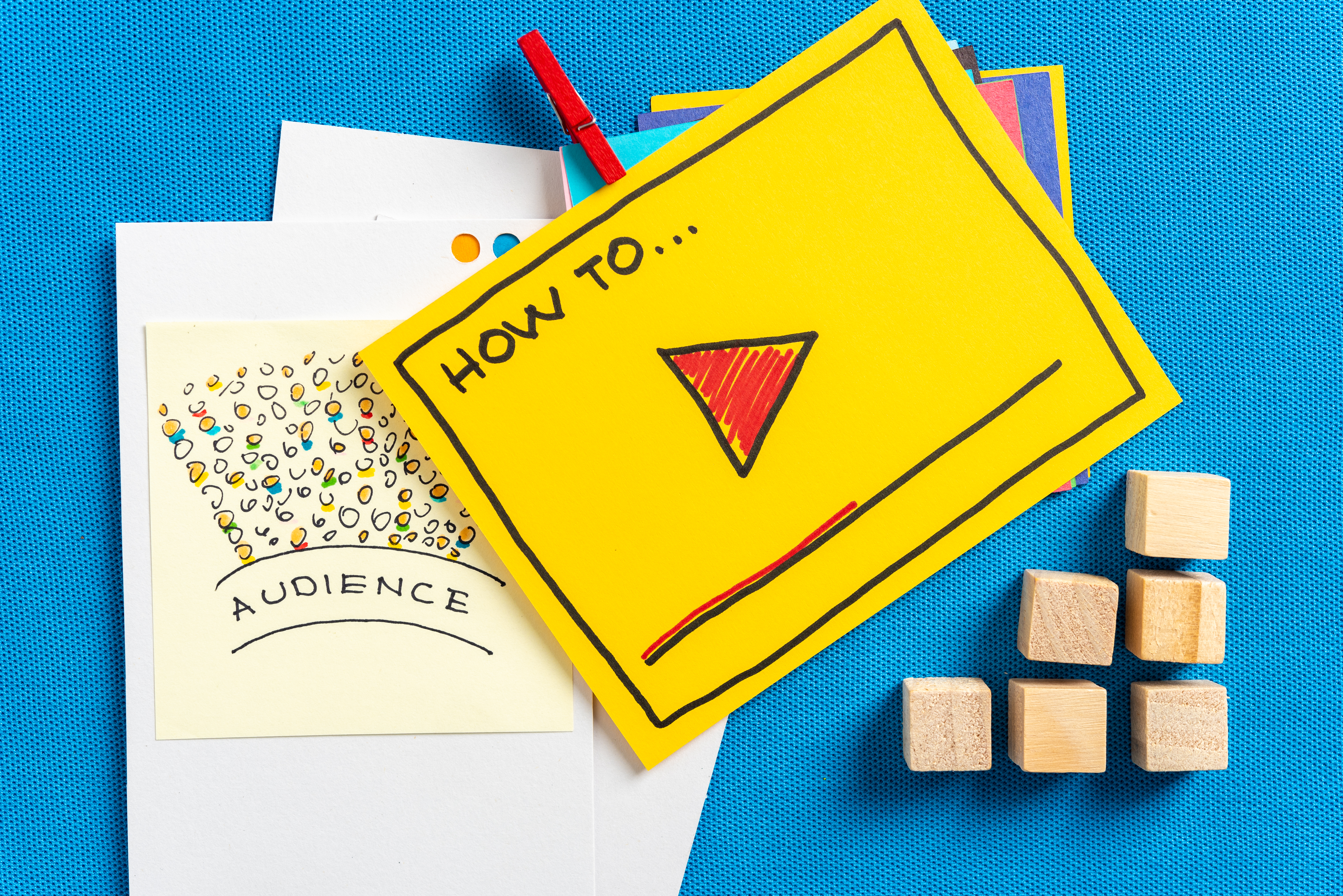 Stationary depicting how to reach an audience