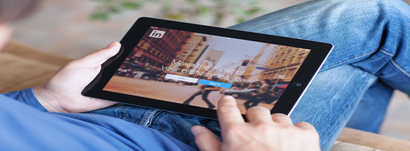 Accessing LinkedIn on tablet