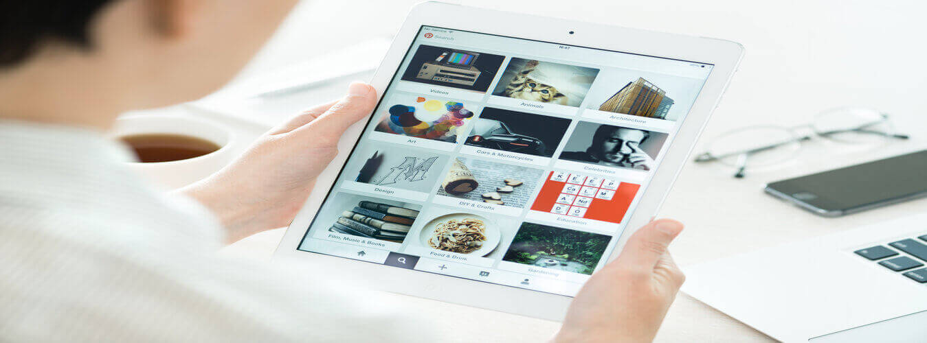 Pinterest on tablet