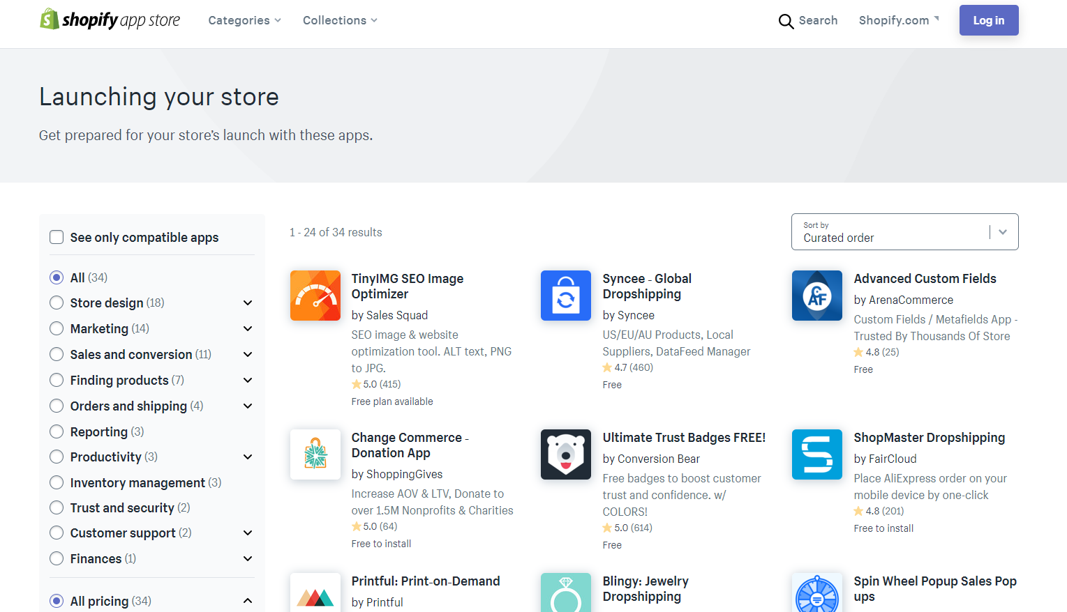 Shopify App store screenshot